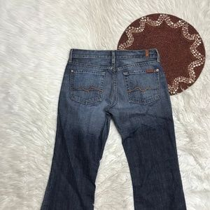 7 For All Mankind Women Jeans Flare Sz 28 X 32 C11